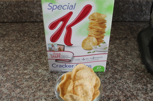special k cracker chips, sour cream and onion flavor