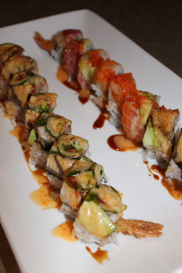 mexico city roll (left) and sun flower roll