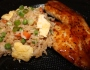 Vegetable Fried Rice and Teriyaki GlazedTilapia