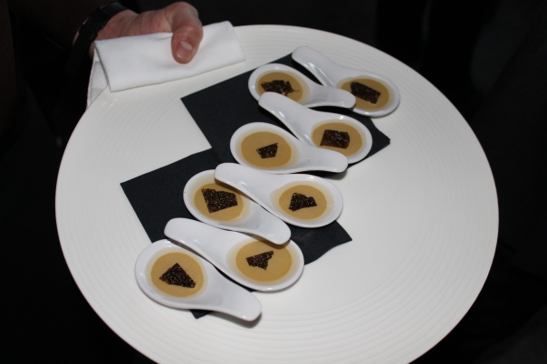 foie gras mousse with shaved black truffle