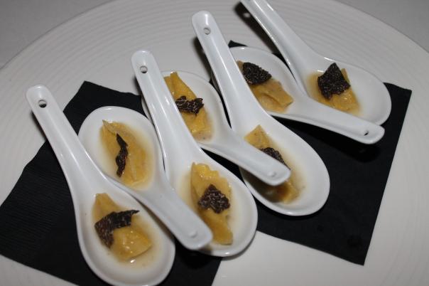 truffled ravioli