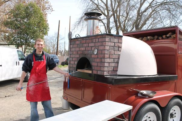 mobile brick oven