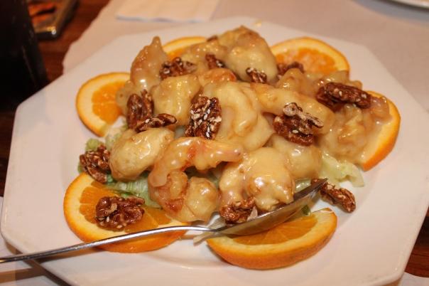 honey walnut prawns