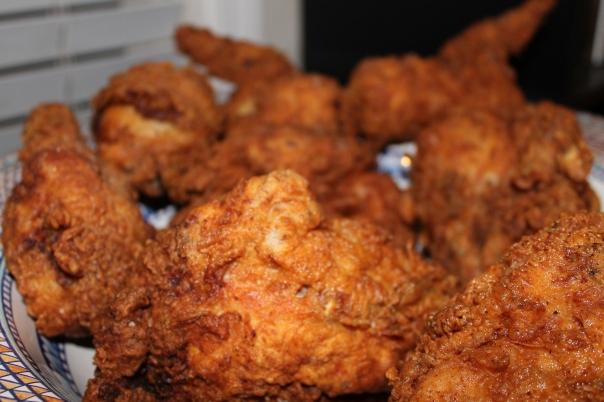 bowl full of crispy, juicy, truffled chicken