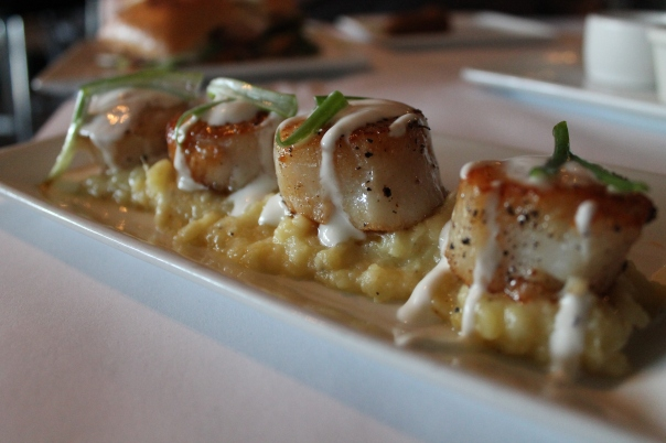 pan seared day boat scallops