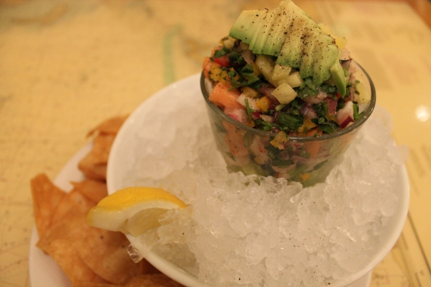 ceviche with the day's catch