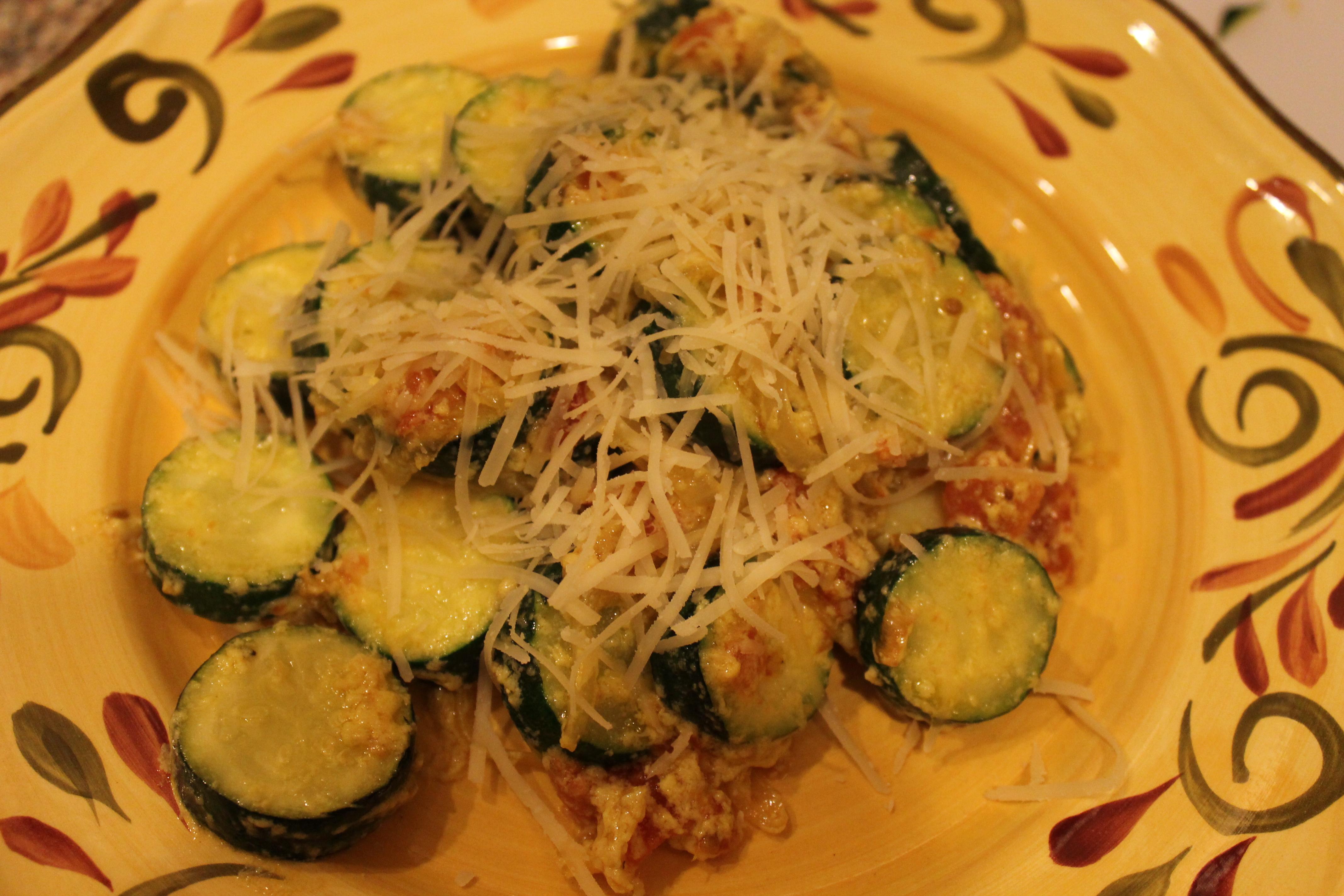 Zucchini With Parmesan And Garlic Chili Oil Recipe — Dishmaps