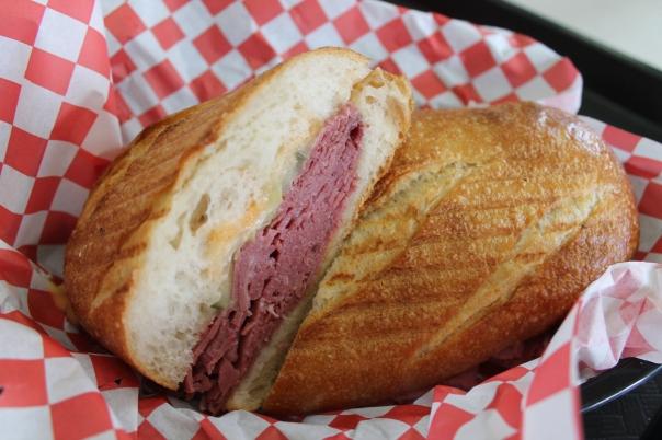hot corned beef sandwich