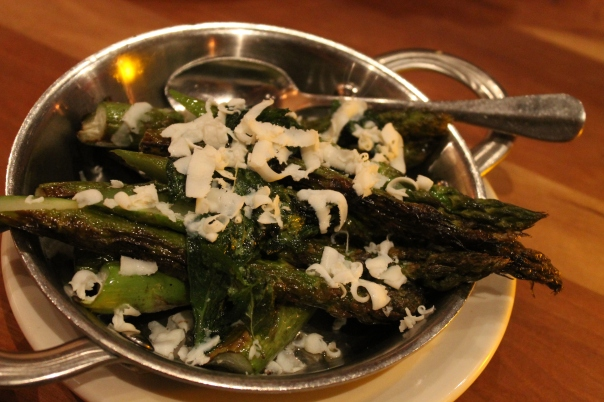asparagus, mint, and ricotta salata