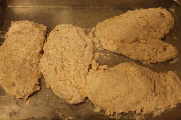 flour, buttermilk, flour