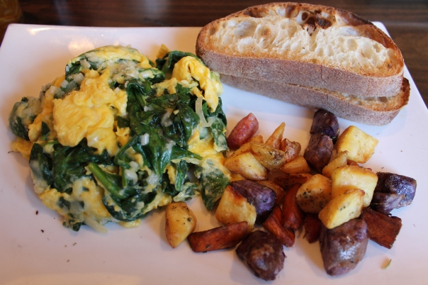 snowed spinach scramble