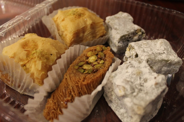 one burma, two baklavas, and three turkish delights