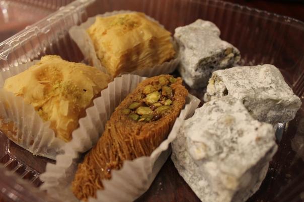 one burma, two baklavas, and three turkish delights