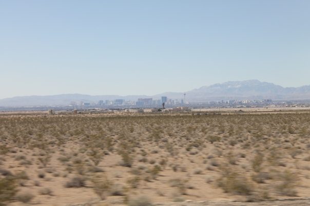 the strip from afar