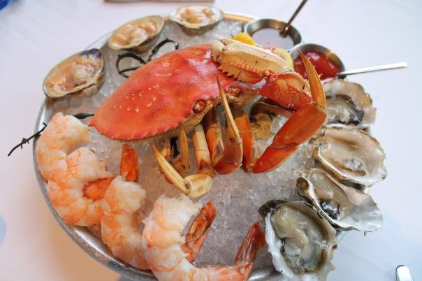 petite iced shellfish platter