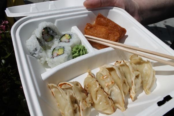 sushi & gyoza combination