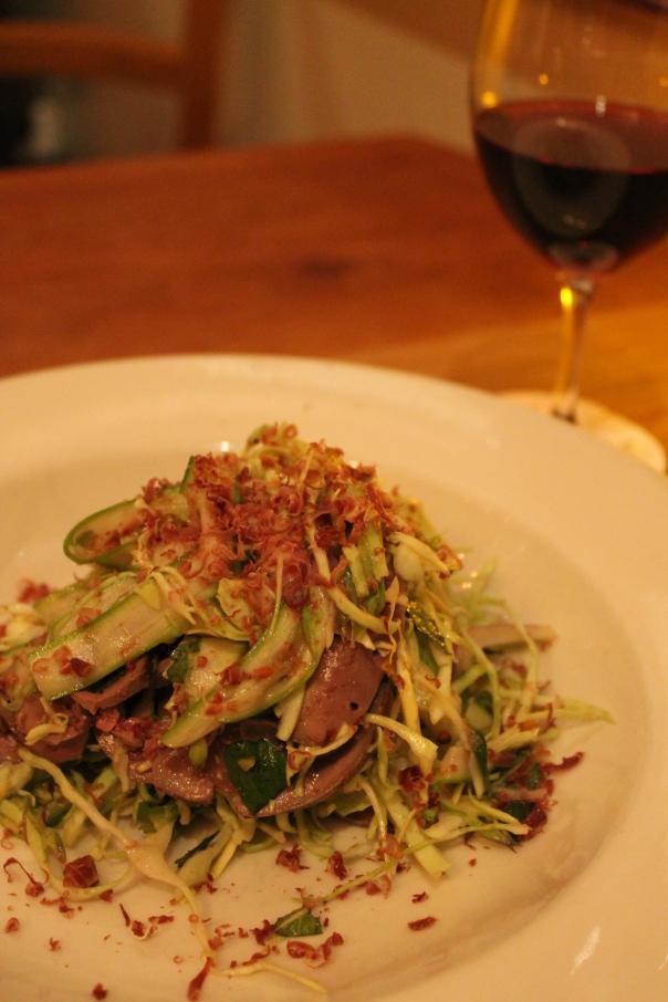 lamb bits, asparagus, chilli & pistachio; cerasuolo di vittoria classico 2009, valle dell'acate