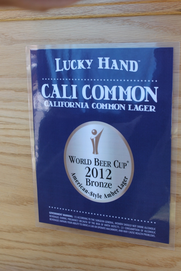 organic cali common craft beer from lucky hand