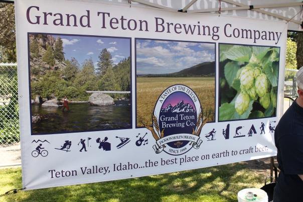 way to represent idaho, grand teton brewing co!
