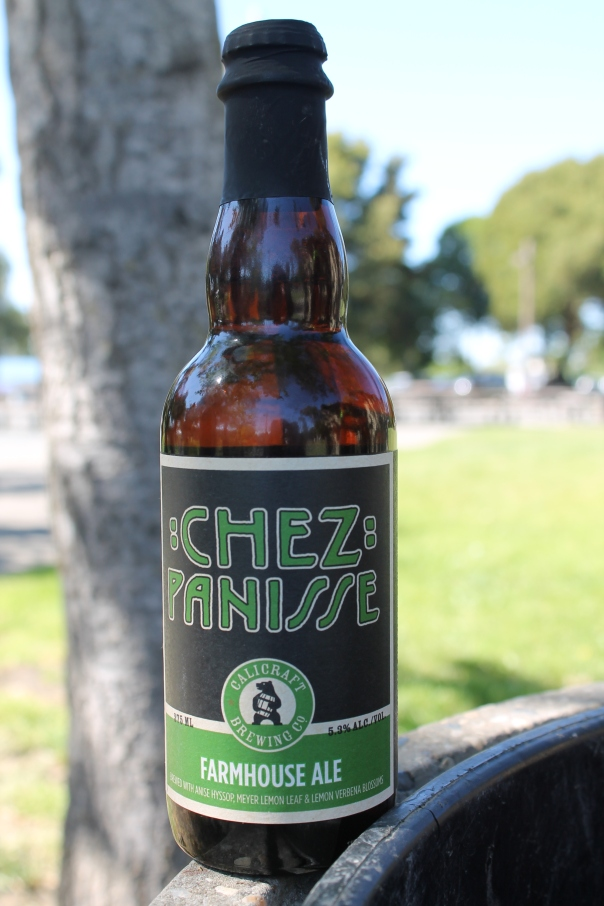 calicraft's chez panisse farmhouse ale (take-home swag for us)