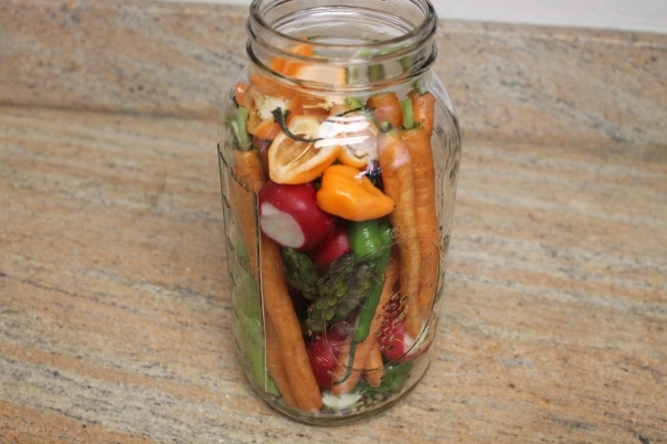 fresh veggies waiting to be pickled
