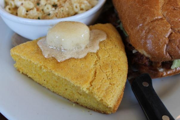 cast iron skillet cornbread with brown sugar butter