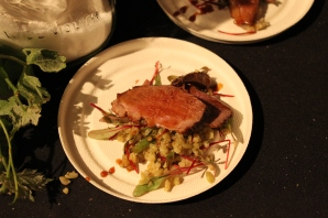 mediterranean spice-dusted duck breast with kumquat marmalade