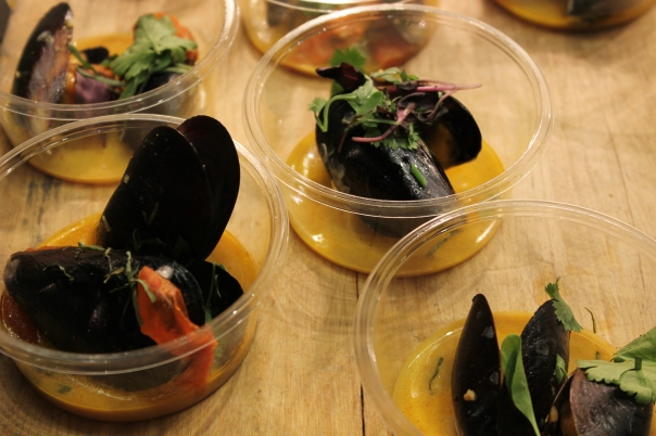 red curry mussel stew
