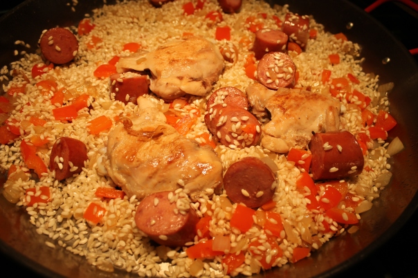 saute the rice