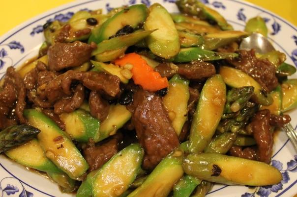 black bean sauce beef & asparagus