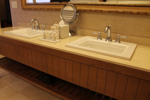 dual sinks in a huge bathroom
