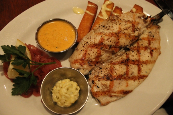 idaho rainbow trout with polenta fries
