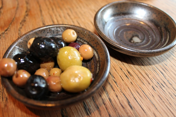 complimentary marinated olives