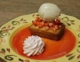 Amaretto Pound Cake with Strawberry Chantilly