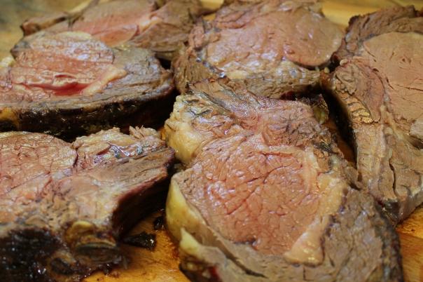 cut into steaks