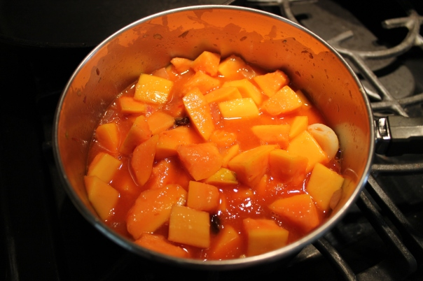stewing the chutney
