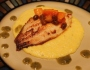 Pan-Seared Catfish with Papaya Chutney Over Creamy Cheddar JalapeñoGrits