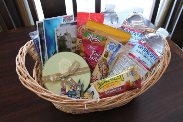 welcome basket for elite members