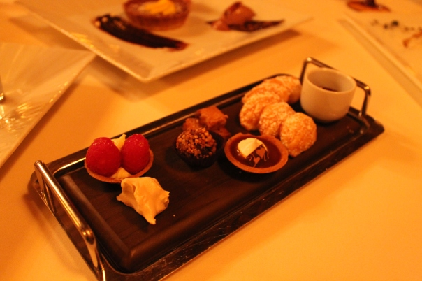 surprise fifth course - petit fours and madeleines