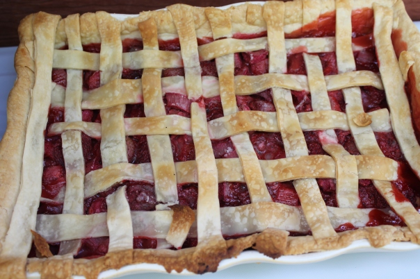 angie's strawberry rhubarb pie