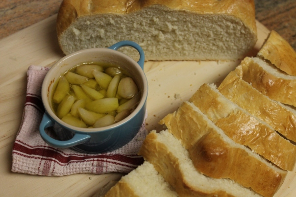 french bread and roasted garlic