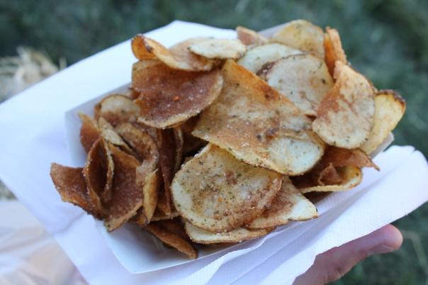 garlic potato chips