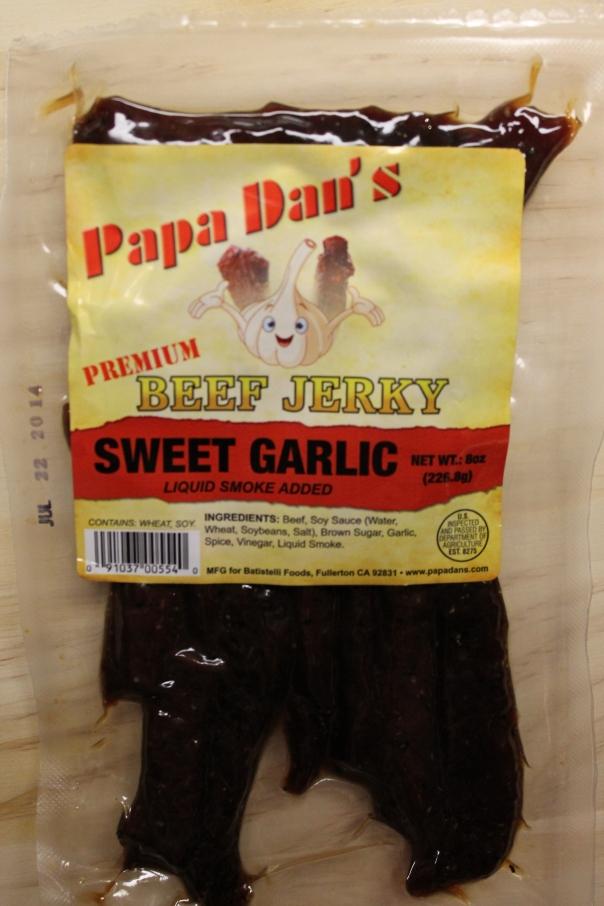 sweet garlic jerky