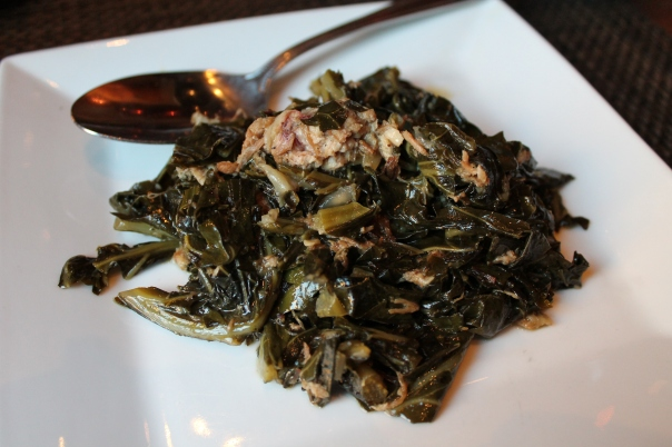 smoked brisket-braised collards