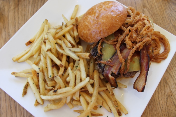 grayson burger and herb french fries