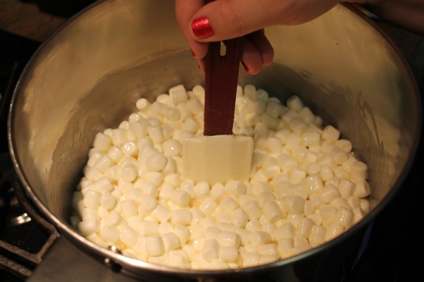 wetted marshmallows