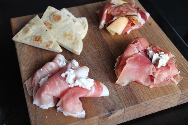 ham tasting plate