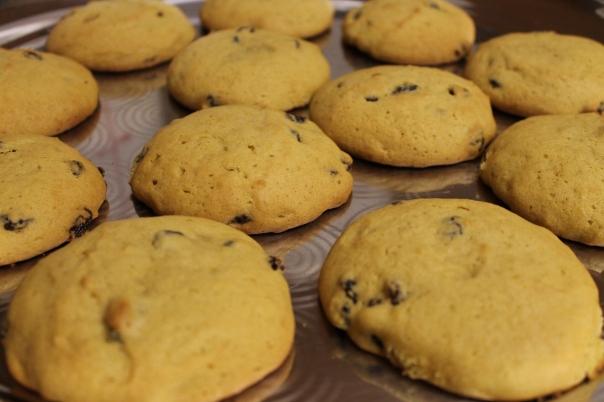 pumpkin raisin cookies