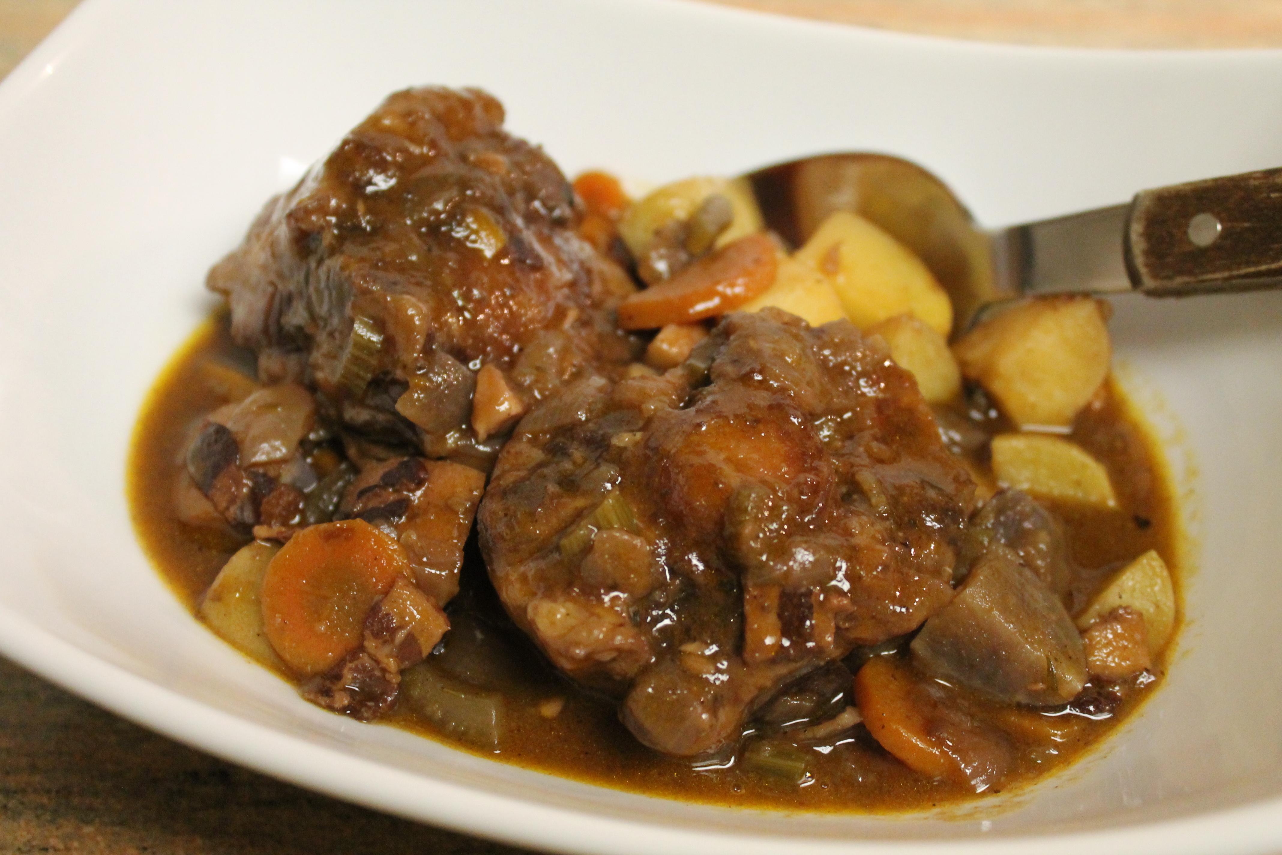 Mushroom Soup Oxtail Stew Recipe Dishmaps