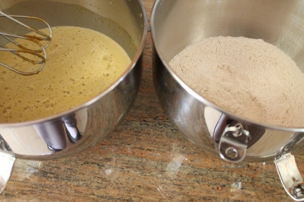 always mix wet and dry ingredients separately when prepping